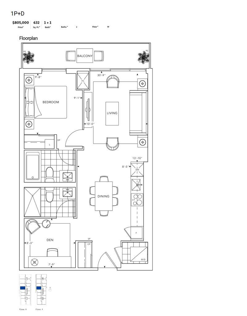 MRKT - Floor Plan - 1Q+D