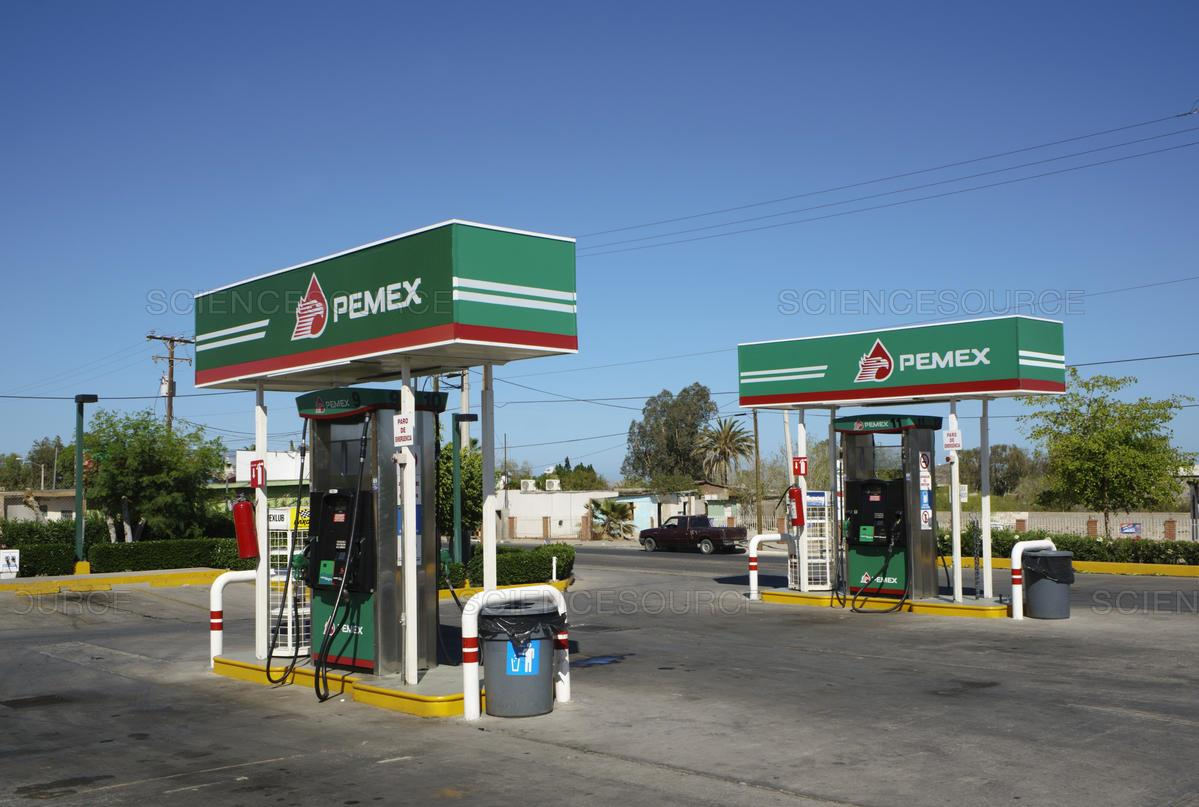 Gas station in Mexico