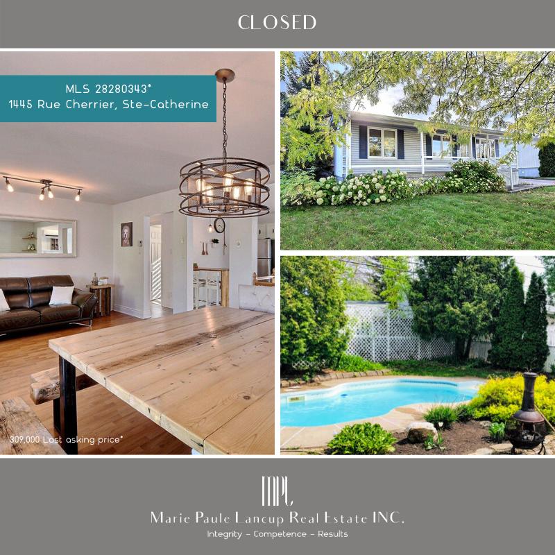 Marie Paule Lancup Real Estate Inc - 1445 Rue Cherrier STE-CATHERINE - PURCHASED - ACHETÉ