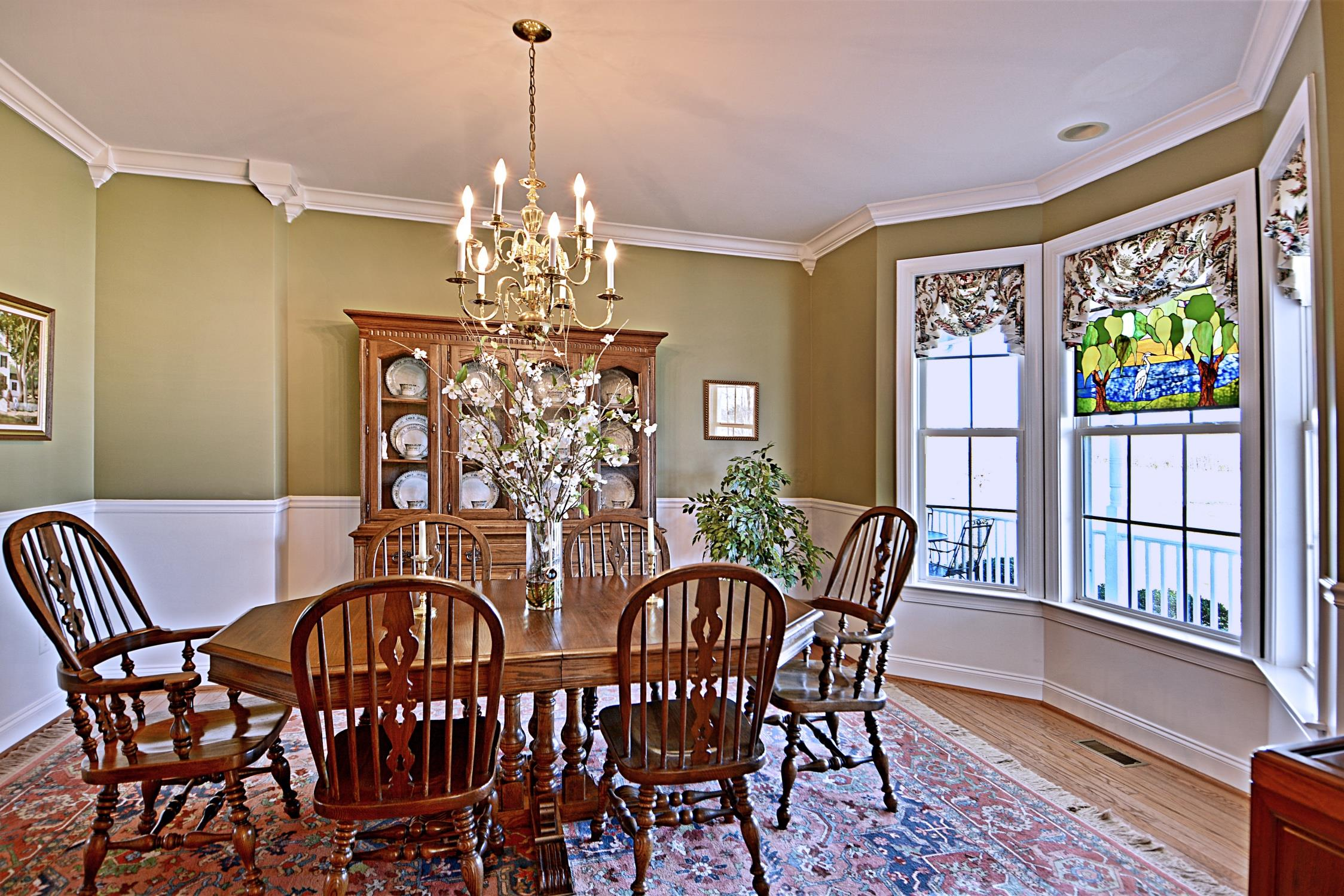 Formal Dining Room at 21581 Montfort Rd, in Bushwood, St Marys County!  This home is a waterfront horse property located in the 7th District of Saint Marys County in Southern Maryland.  Marie Lally will show you this wonderful farm!