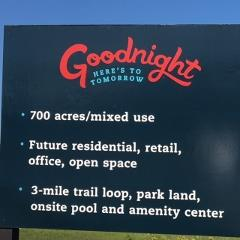 Information sign at the Goodnight Ranch neighborhood 78747