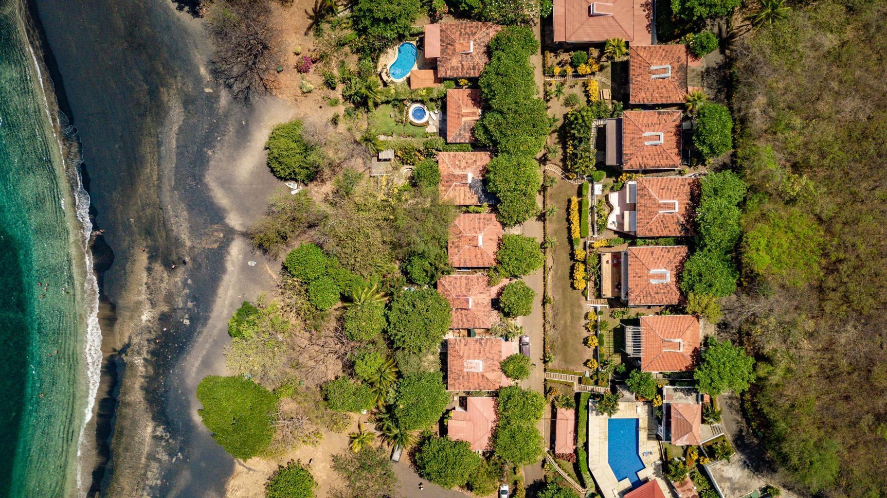 Aerial view of the Playa Ocotal region