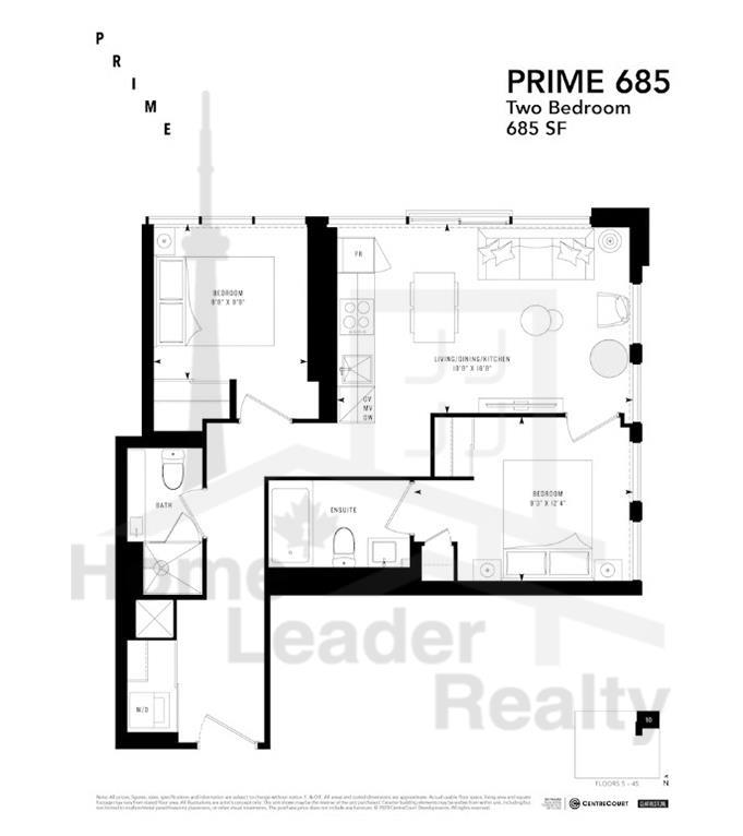 PRIME Condos - Floor plan - Prime 685