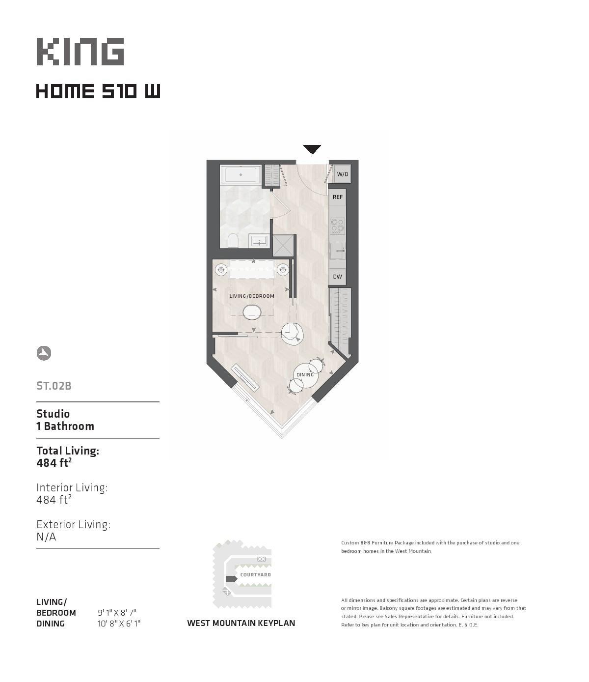 BIG King West Floor Plans