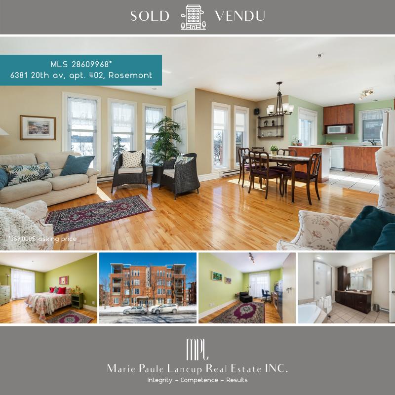 Marie Paule Lancup Real Estate Inc -  402-20e Av Rosemont - VENDU-SOLD