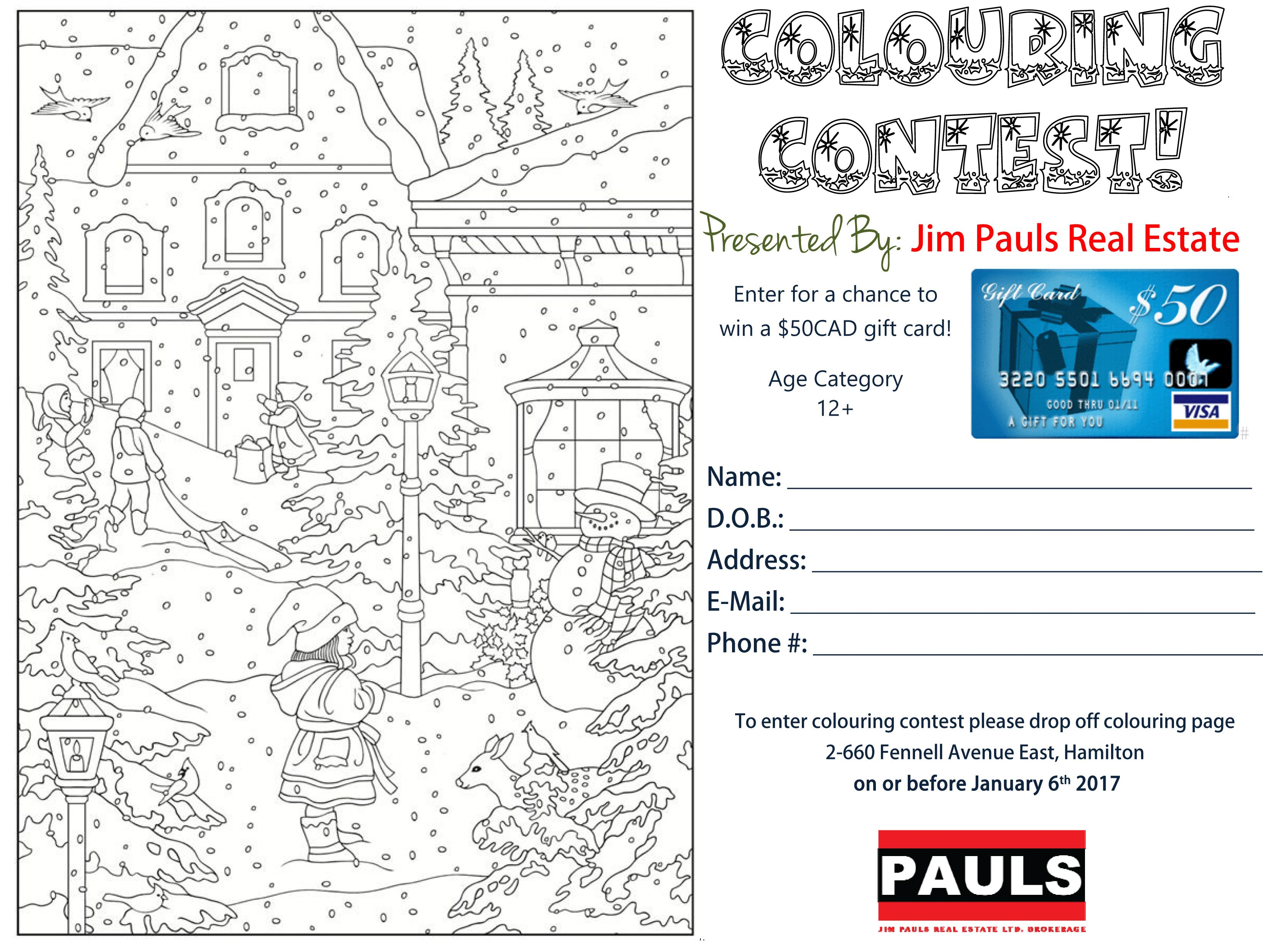 Adult Colouring Contest