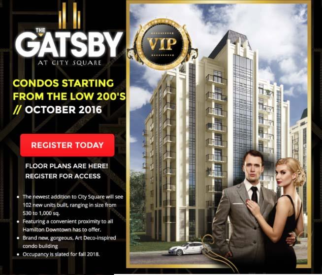 The Gatsby Condos Hamilton Near the Hospital Under 250,000