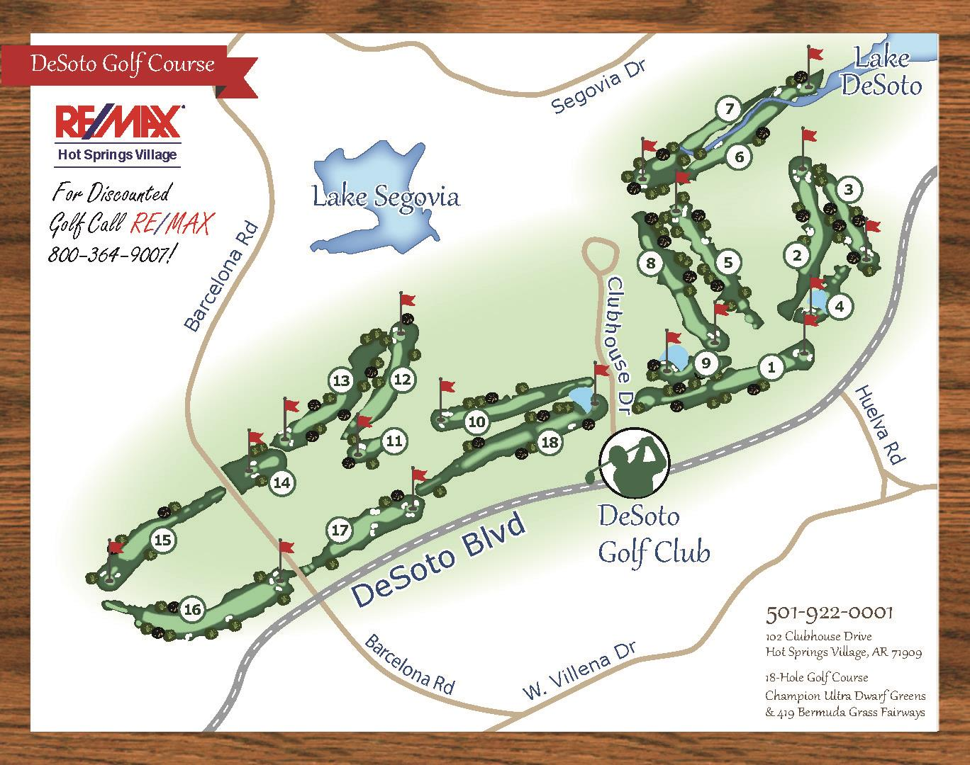 DeSoto Golf Course Map