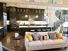 A model home kitchen in Rutherford West 78619