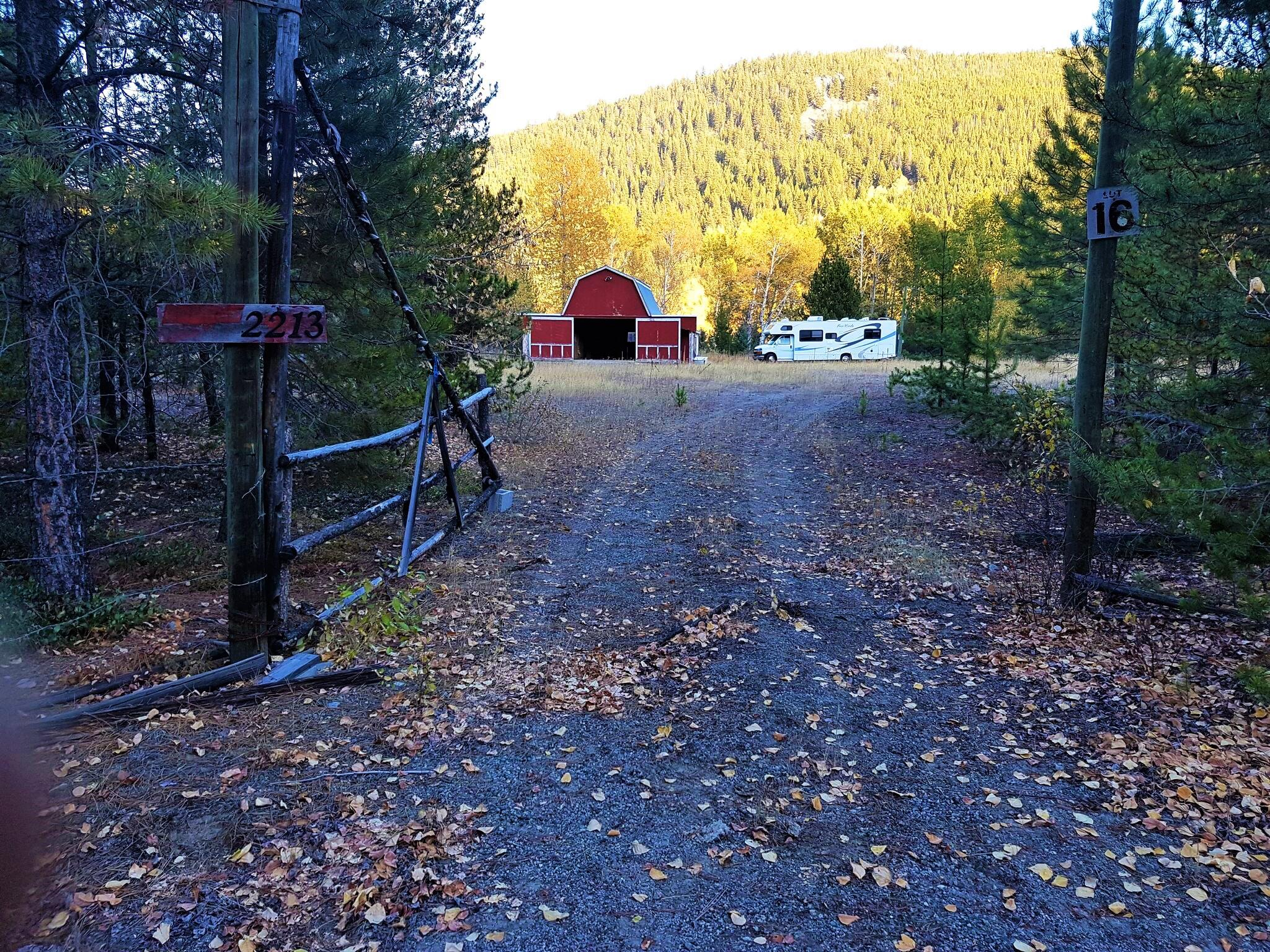 Entrance with Barn!