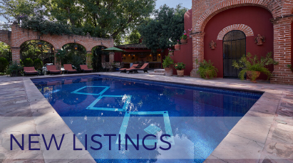 San Miguel de Allende Real Estate Property - New Listings Pool Diagonal Design Hover