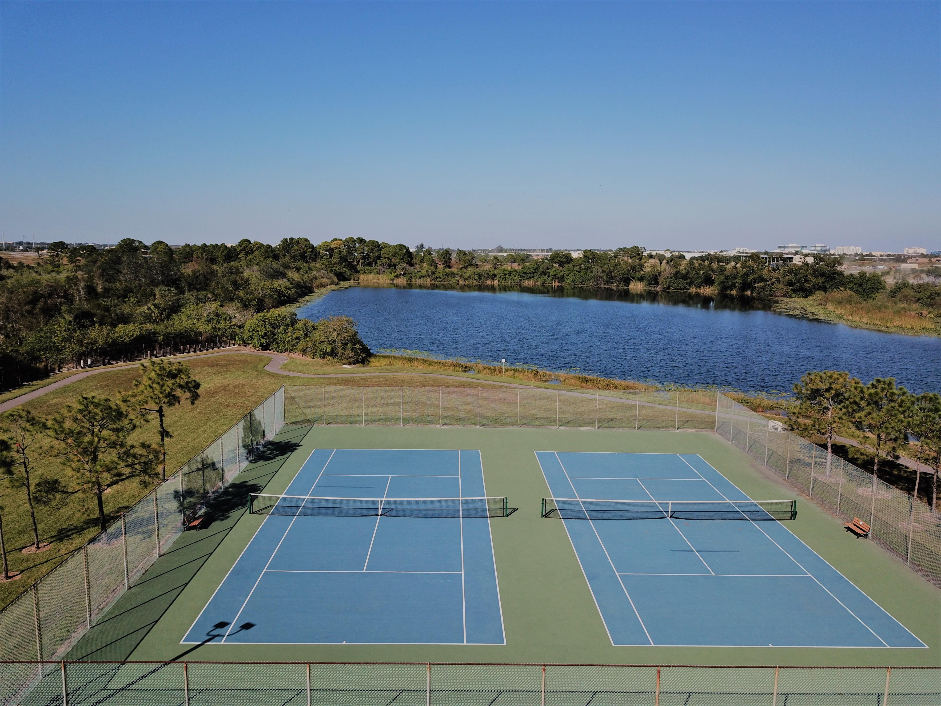 Tennis courts in The Lakes in Pinellas Park