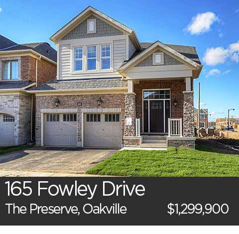 165 fowley drive the preserve oakville homes