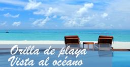Orilla de playa Vista al Oceano
