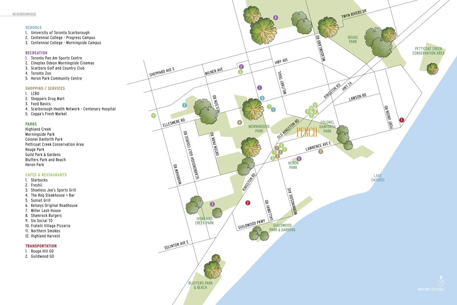 Perch condos site plan and map