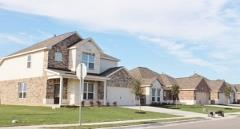 A view of homes in the Bunton Creek neighborhood in Kyle, Texas.