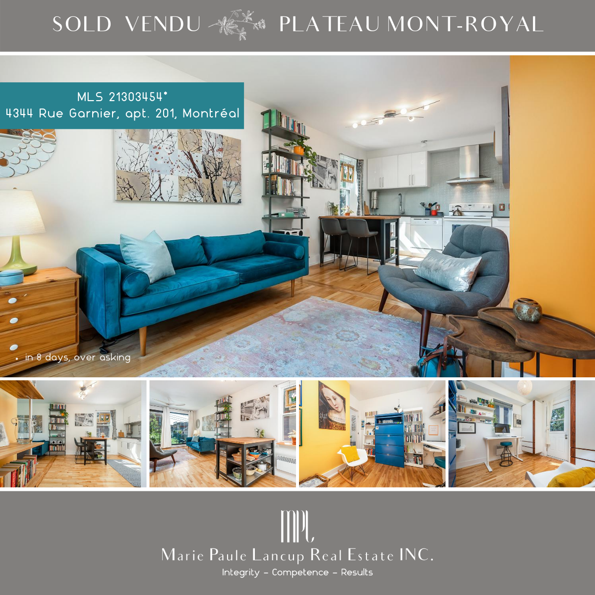 Marie Paule Lancup Real Estate Inc - 201-4344 Garnier LPLATEAU MONT-ROYAL SOLD VENDU