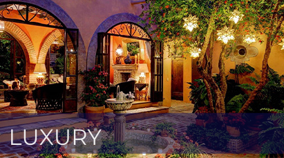 San Miguel de Allende Real Estate Property – Luxury font and lights