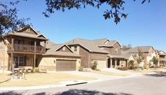 A street view of homes in the Estancia neighborhood.