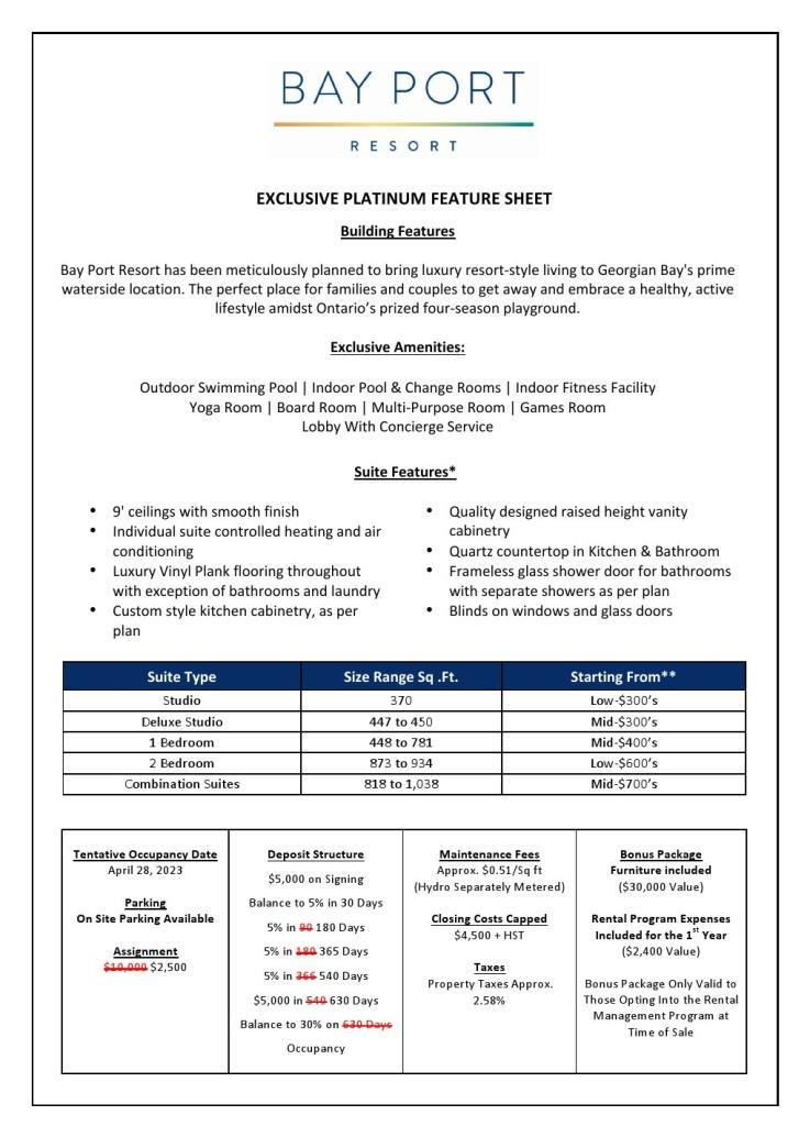 Bay Port Resort - price