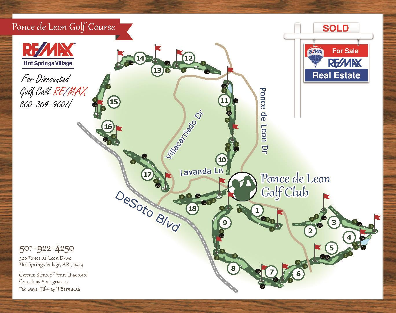Ponce de Leon Golf Course Map