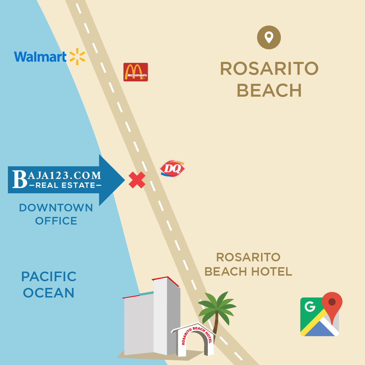 Downtown Rosarito Office Location