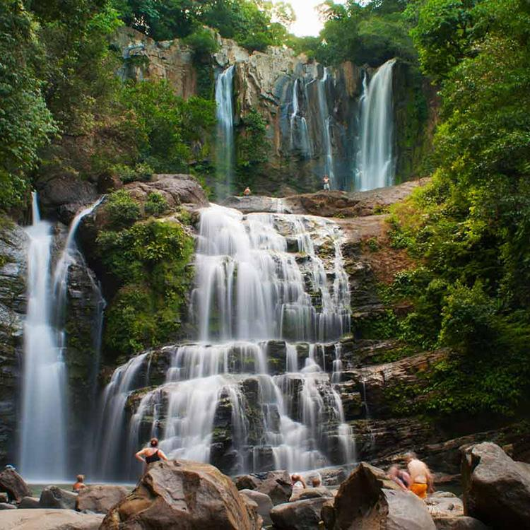 Jungle waterfall near Dominical Costa Rica