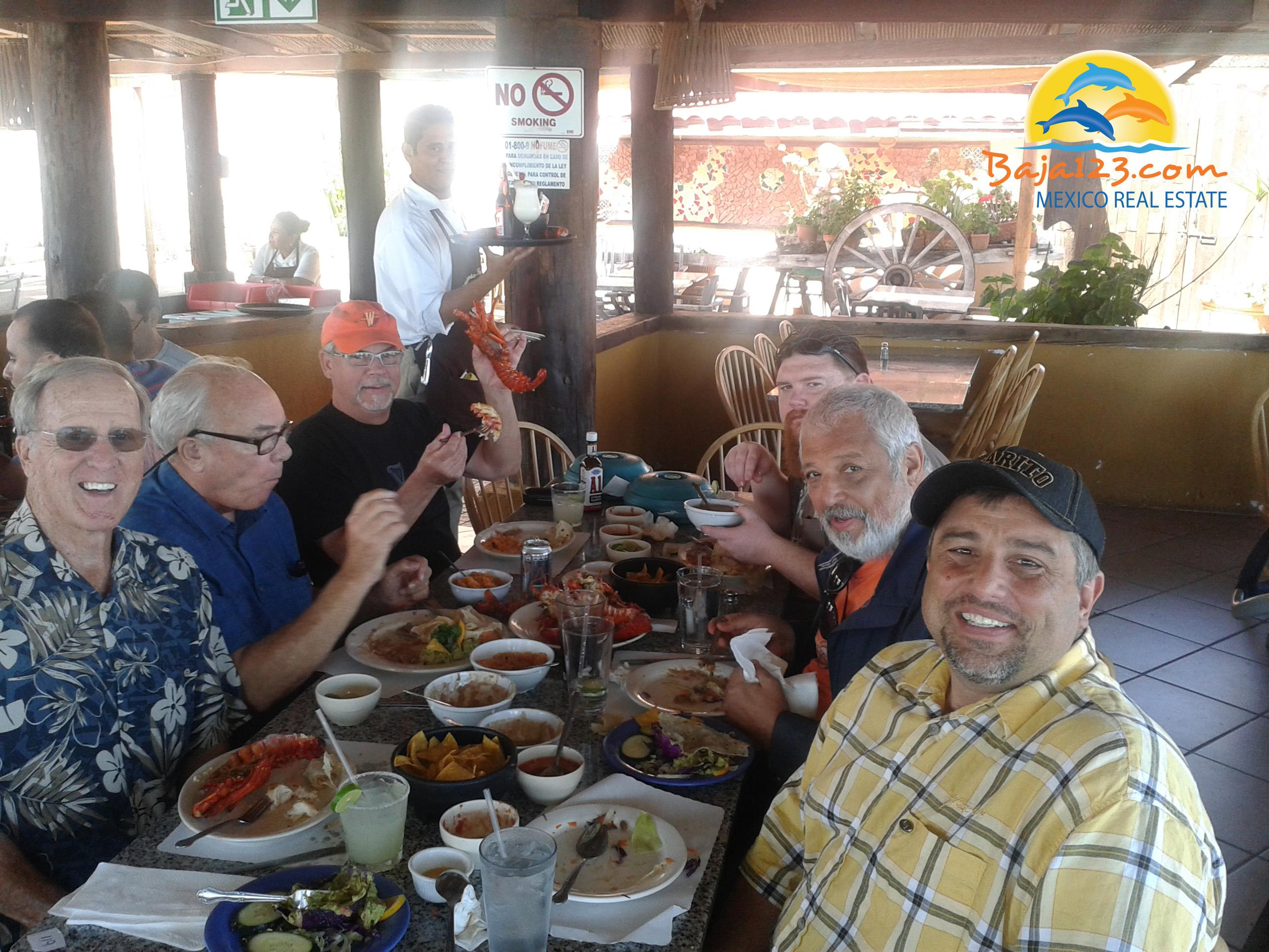 Lunch at Puerto Nuevo before hitting the annual golf game in Ensenada.