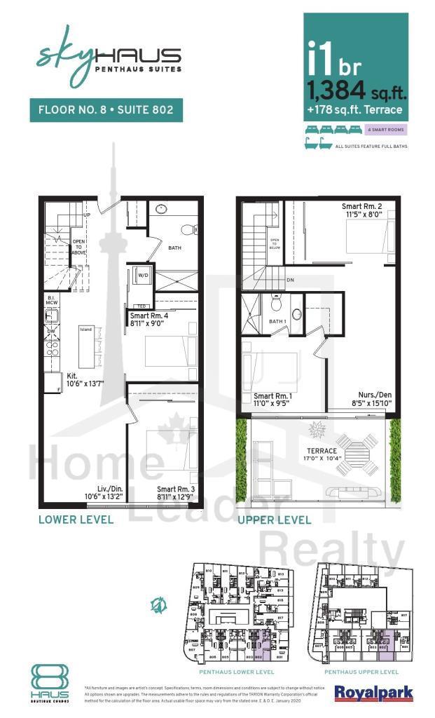 Skyhaus Floor Plans