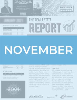 November 2020 Okanagan Real Estate Report