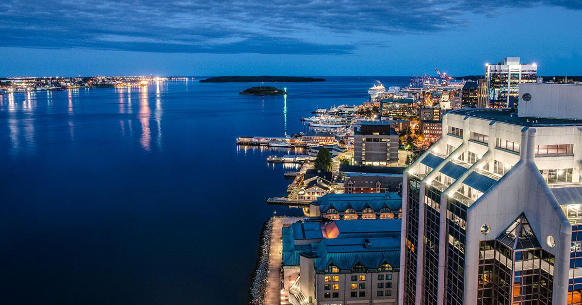 Halifax Harbour at night - RE/MAX nova - houses for sale