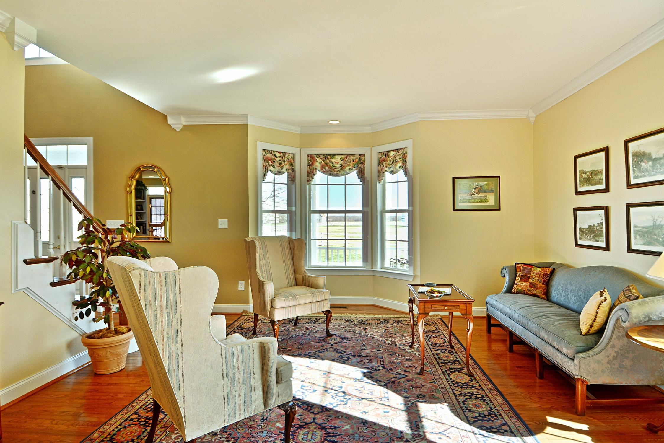 Formal Living Room at 21581 Montfort Road in Saint Marys County MD - Beautiful interior and home at this Waterfront Horse Farm in Bushwood MD, Listed by Marie Lally, Your Southern Maryland Real Estate Expert!