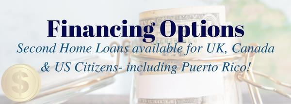 Financing Options for Canadian, UK and US Citizens including Puerto Rico.