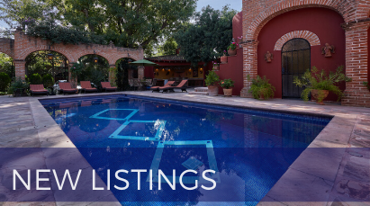 San Miguel de Allende Real Estate Property - New Listings Pool Diagonal Design