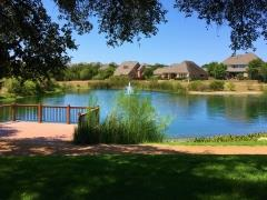 Beautiful lake setting at Highpointe Austin.