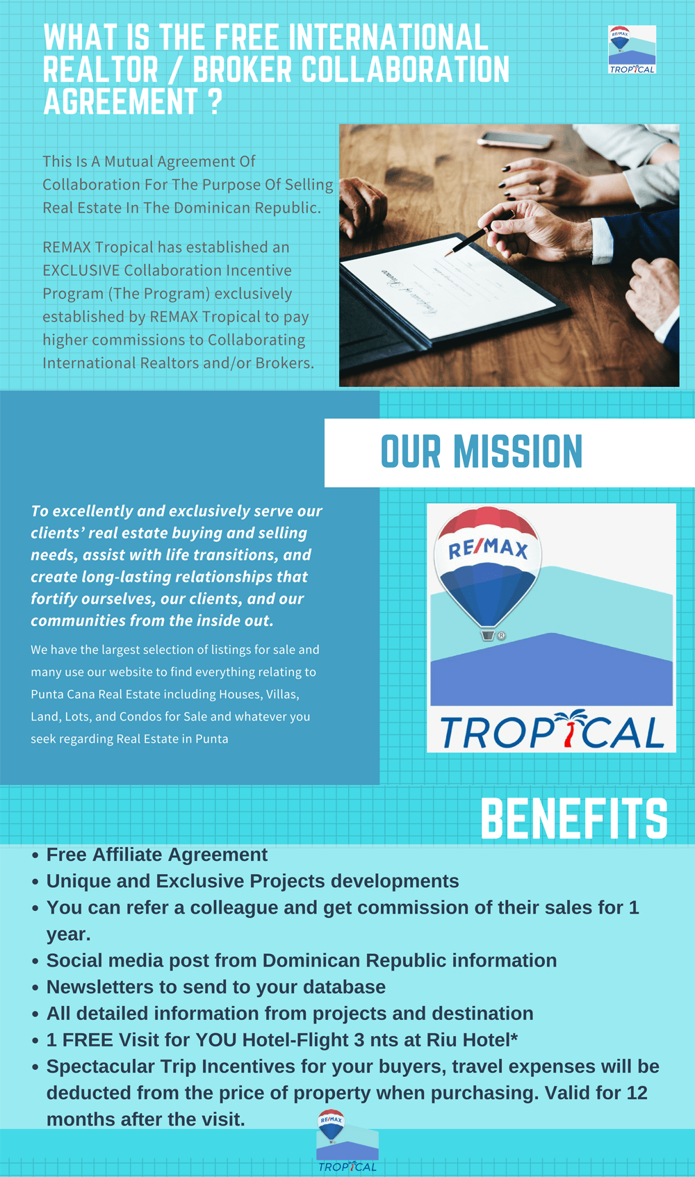 What is the free international realtor broker collaboration agreement?