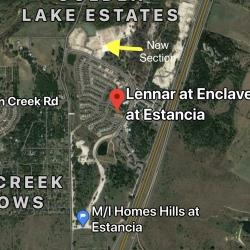 Map of Estancia Hill Country