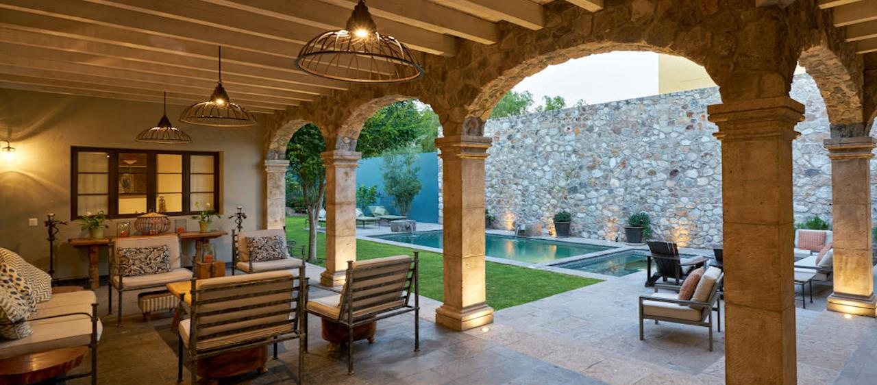 San Miguel de Allende Real Estate Property - Outdoor Patio slide