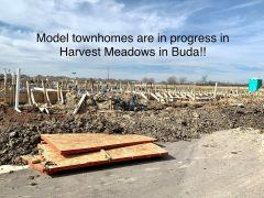 Harvest Meadows Townhomes models Buda, TX