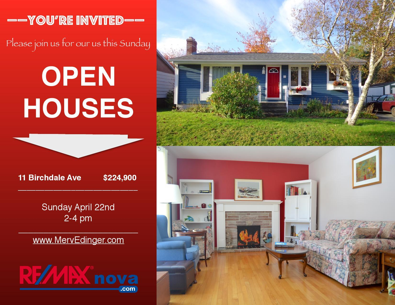 Open House April 22 | Halifax MLS® listings | RE/MAX | 11 Birchdale Ave
