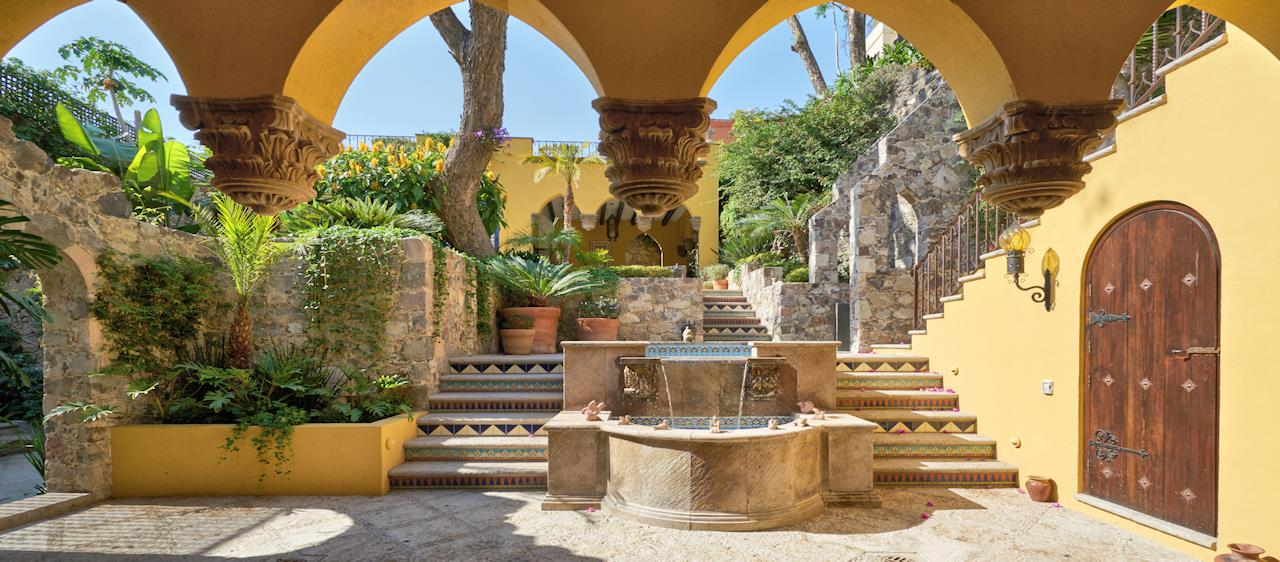 San Miguel de Allende Real Estate Property - Arches & Fountain slide