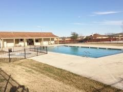 A view of the community pool in Post Oaks, Kyle, Texas.