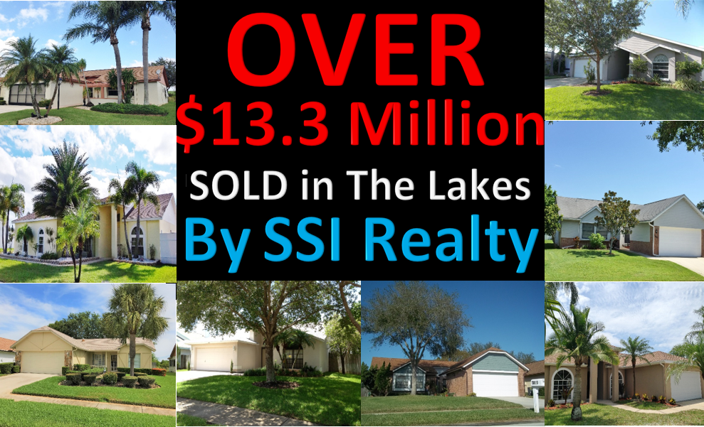 Over $13.337 Million Sold in Real Estate in The Lakes Clearwater Florida