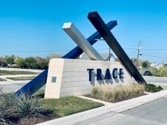 Sign at the entrance to the Trace subdivision in San Marcos.