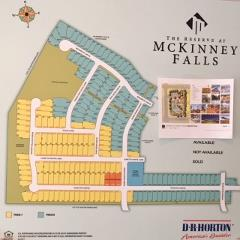 The early development plan for The Reserve at McKinney Falls 78744.