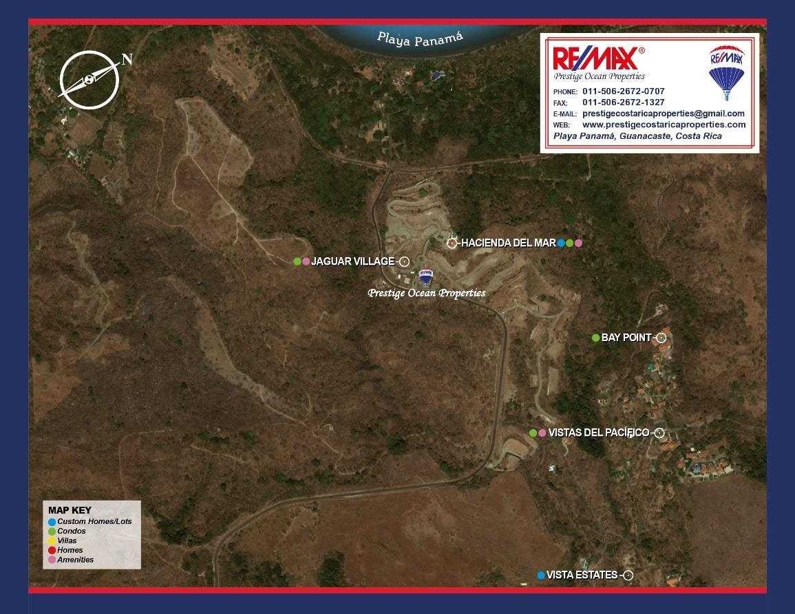 Playa Panama Exclusive Development Map