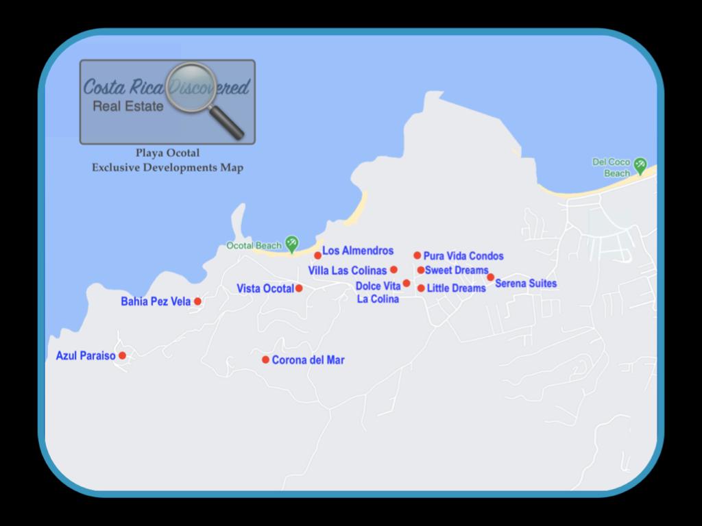 Playa Ocotal Exclusive Development Map
