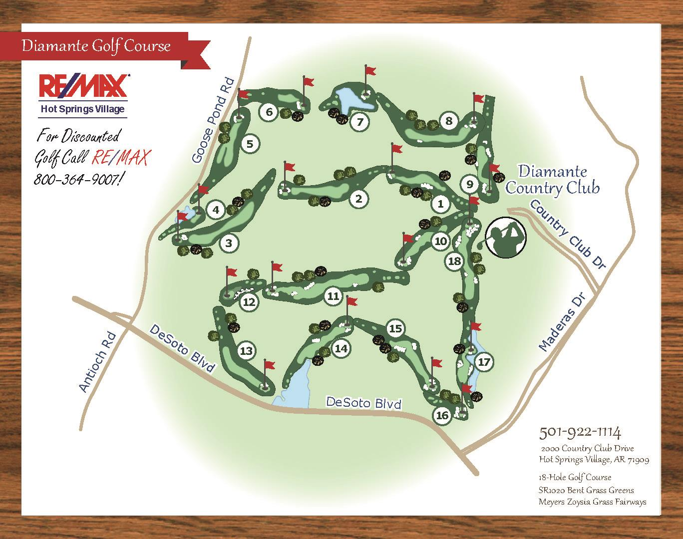 Diamante Golf Course Map