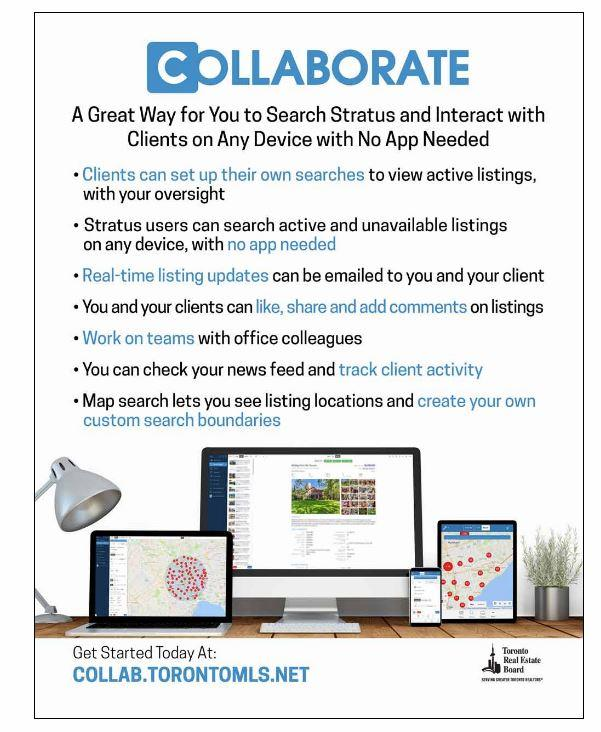 Collaborate - NEW TREB Feature - Sutton Office