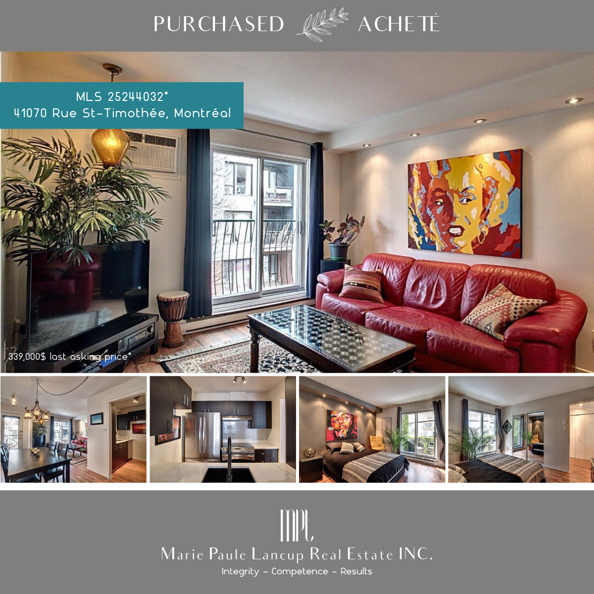 Marie Paule Lancup Real Estate Inc - 1070 Rue St-Timothée PURCHASED
